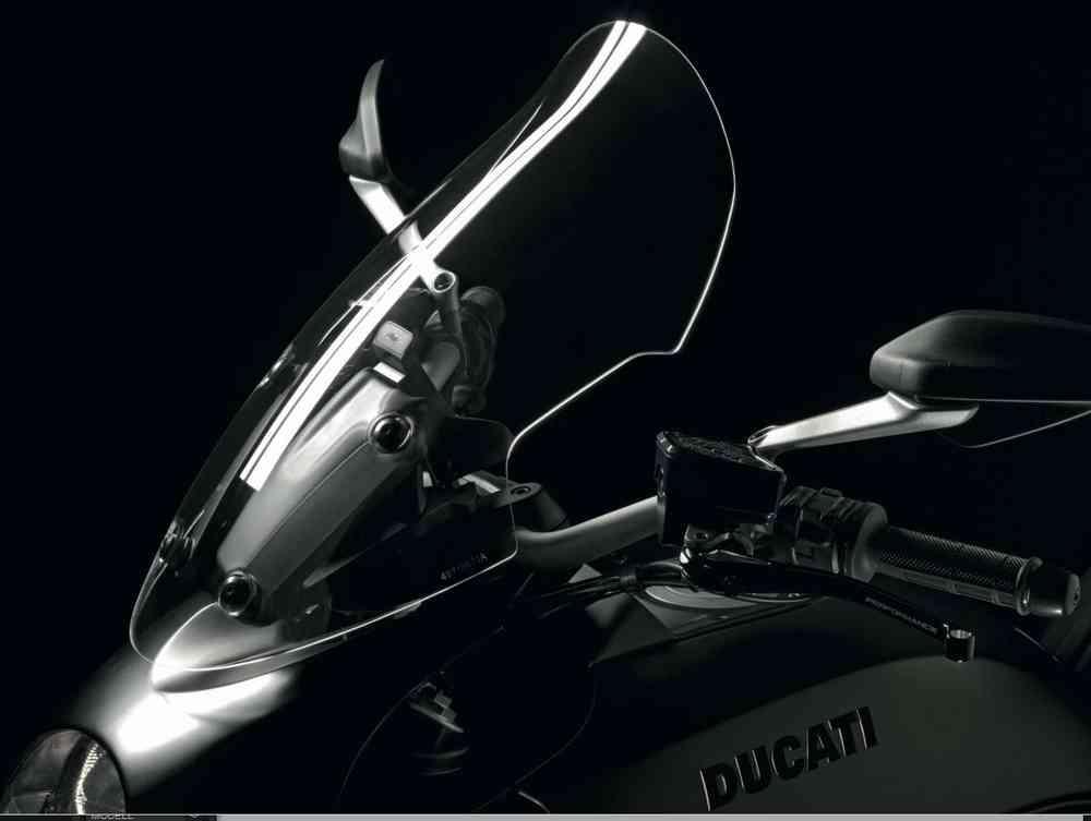 ducati diavel gran turismo plexiglas windscreen kit original