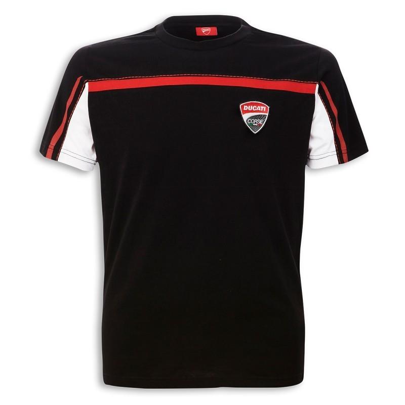 ducati corse t shirt 14 short sleeve black with logo for men new. Black Bedroom Furniture Sets. Home Design Ideas