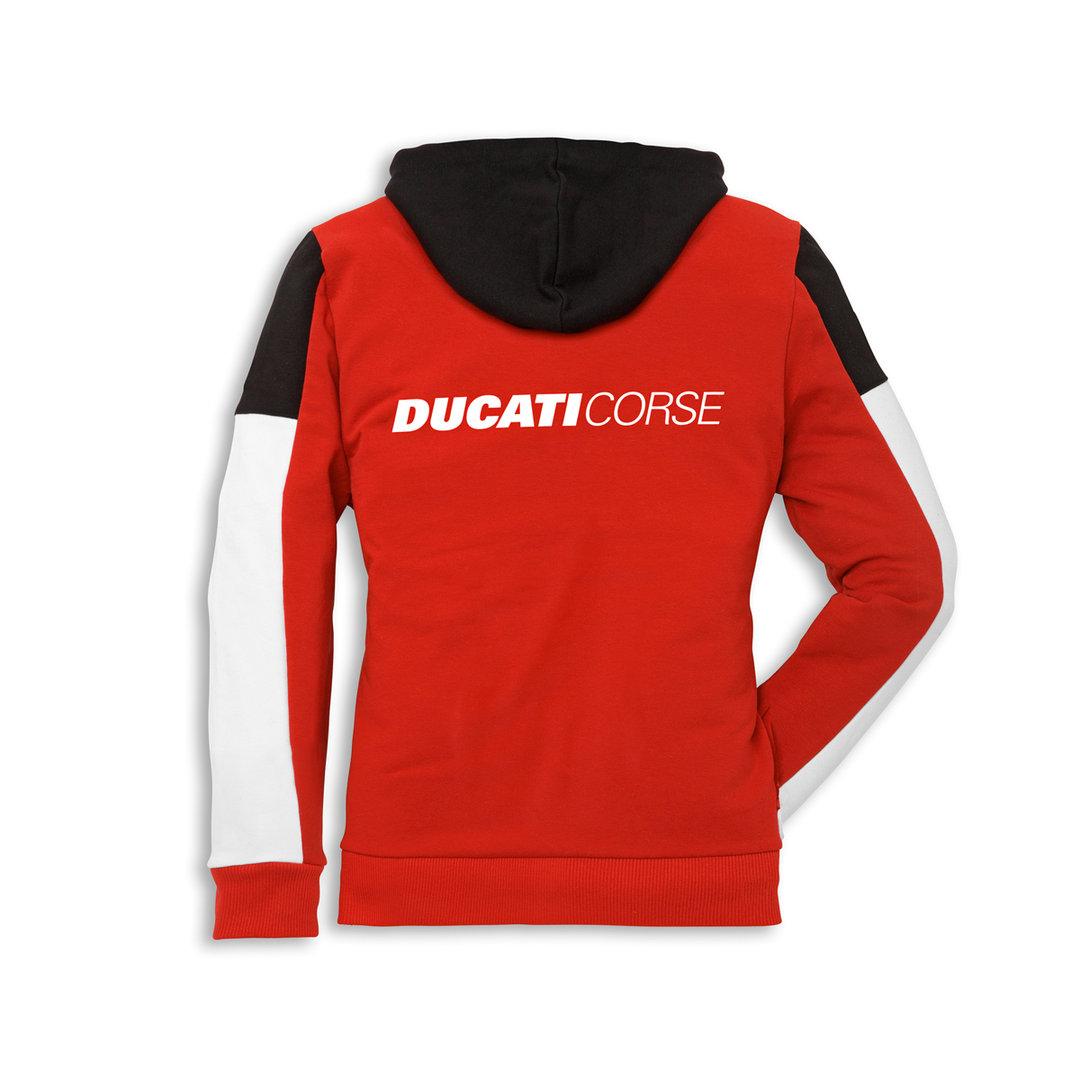 ducati corse 14 kapuzenpullover sweatshirt damen rot. Black Bedroom Furniture Sets. Home Design Ideas
