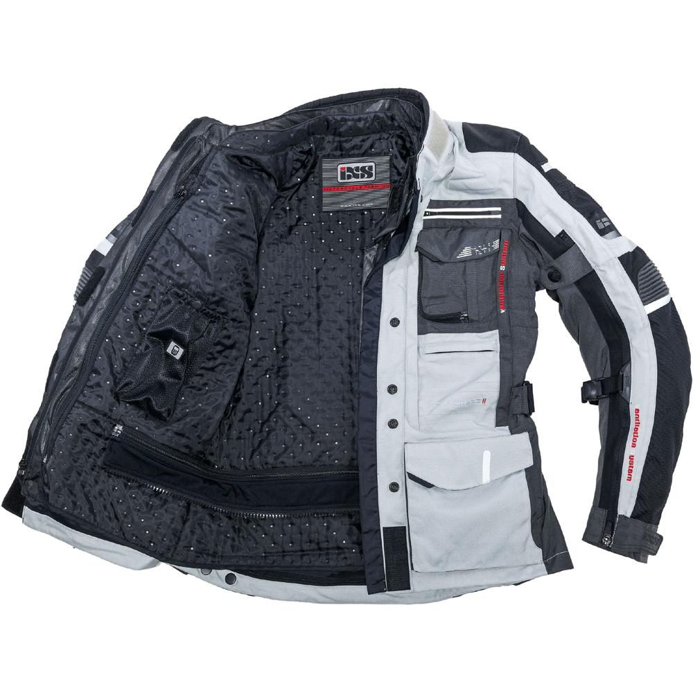 Motorcycle gloves ixs -  Ixs Fabric Motorcycle Jacket Montevideo 2 Black Dark Grey
