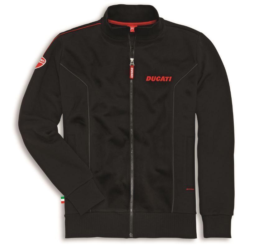 Company Sweatshirt Jacke Schwarz 2 Reißverschluß Ducati HD2YWE9I