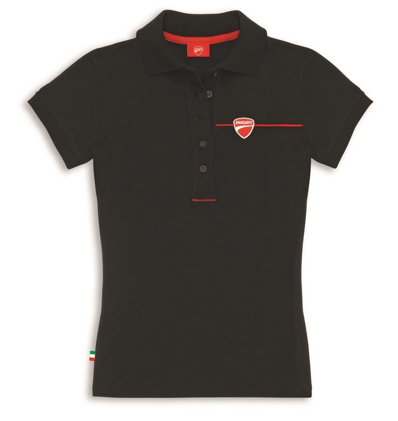 ducati company 2 ladies polo logo embroidered placket 2015 new. Black Bedroom Furniture Sets. Home Design Ideas