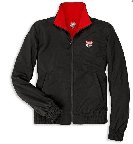 Ducati Corse 2 Double Face turn jacket men black with zipper patch and print