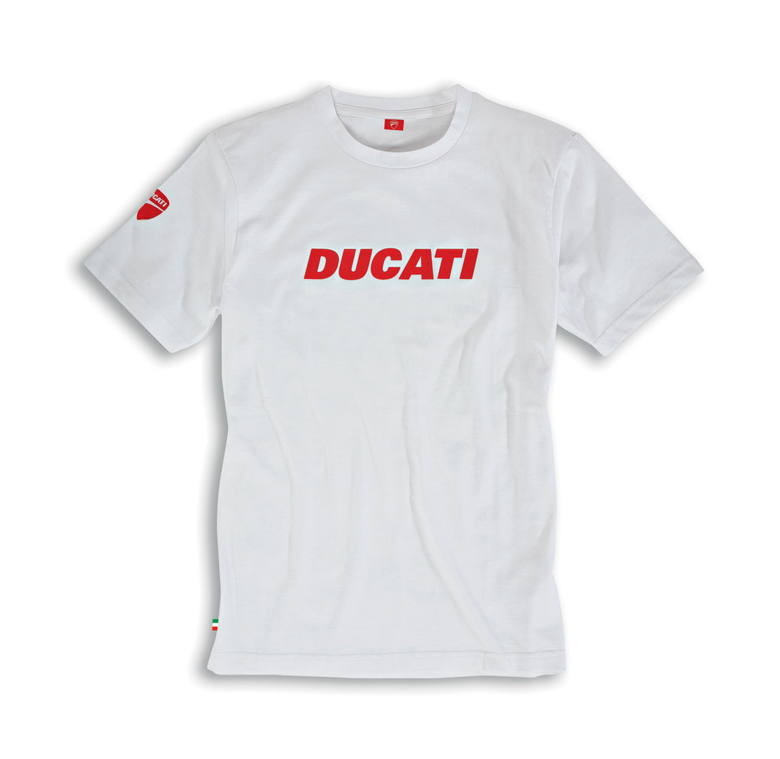 ducati ducatiana 2 t shirt men short sleeve white novelty 2015. Black Bedroom Furniture Sets. Home Design Ideas
