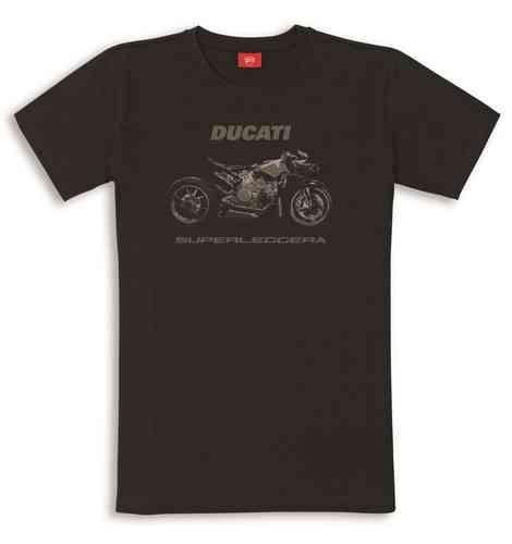 Ducati Graphic Superleggera T Shirt Herren Kurzarm Mit Logo