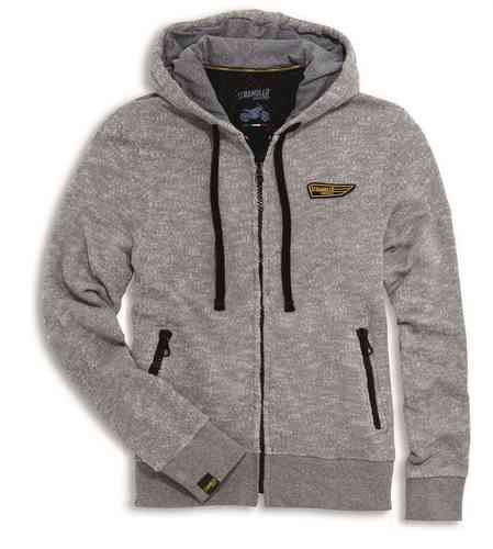 Ducati Scrambler Wing Hooded Sweatshirt Zipper gray