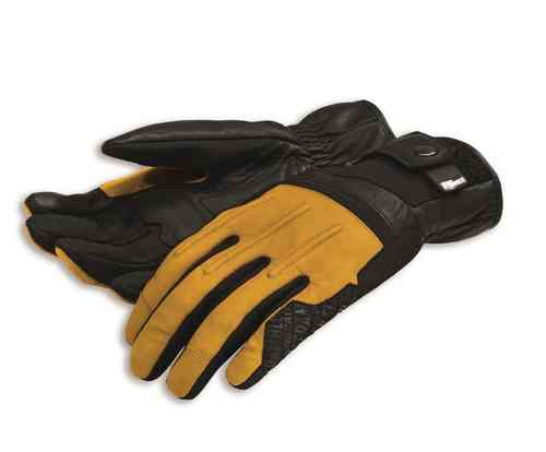 Ducati Scrambler Street Master gloves C2 leather Spidi black yellow