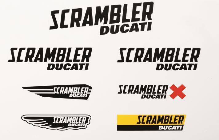 Ducati Scrambler Main Logo Decal Sticker 2015 Novelty Accessories New