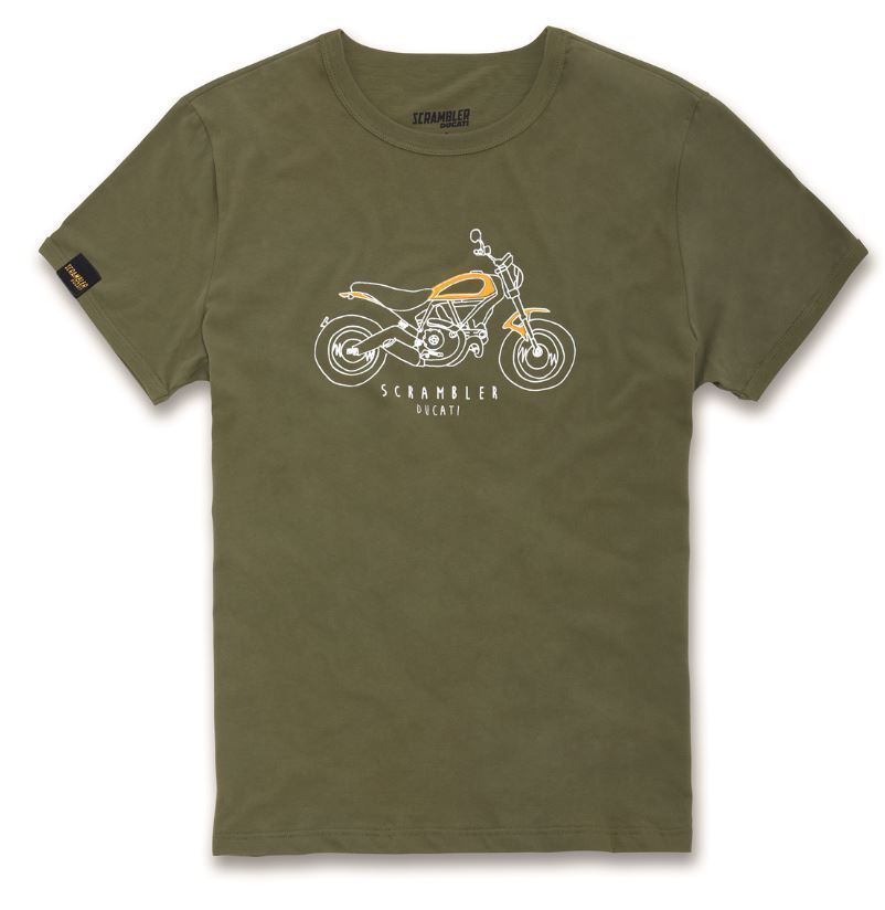 ducati scrambler scr heritage t shirt men 39 s short sleeve. Black Bedroom Furniture Sets. Home Design Ideas