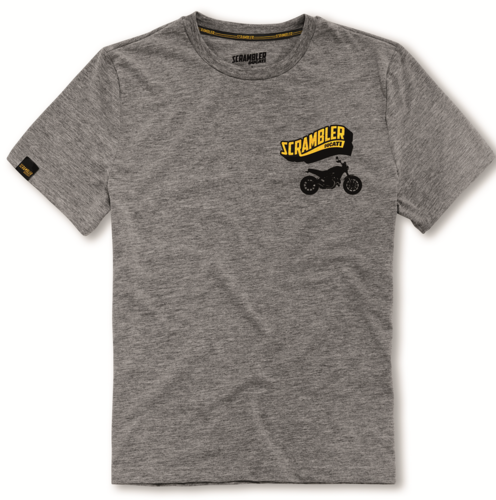 Ducati Scrambler big banner t-shirt grey shirt new