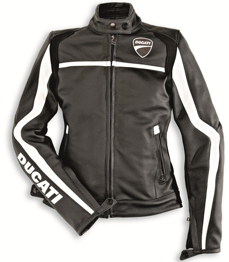 ducati dainese twin lady woman leather jacket motorcycle new 15