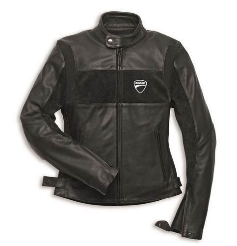 Ducati Company women leather jacket Revit black
