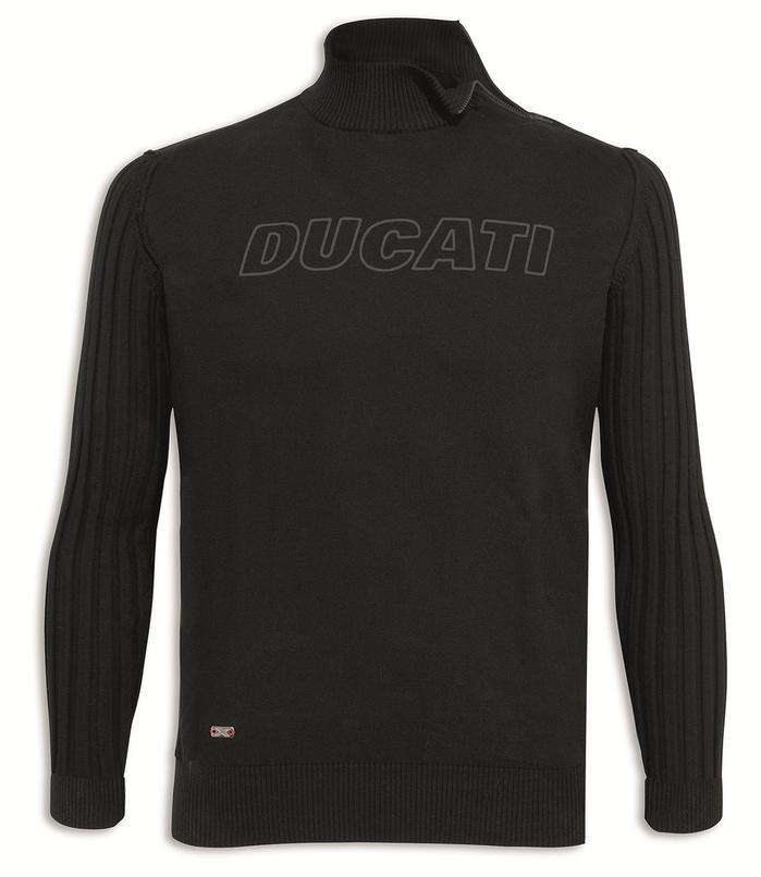 ducati stealth motorrad langarm herren strick pullover schwarz. Black Bedroom Furniture Sets. Home Design Ideas