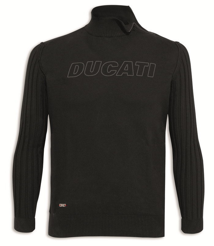 ducati stealth motorrad langarm herren strick pullover schwarz. Black Bedroom Furniture Sets. Home Design Ideas