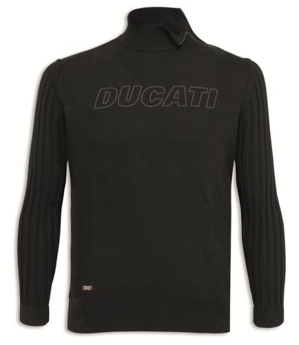 d58d2530b8fc2e Ducati Stealth Motorrad Langarm Herren Strick Pullover schwarz