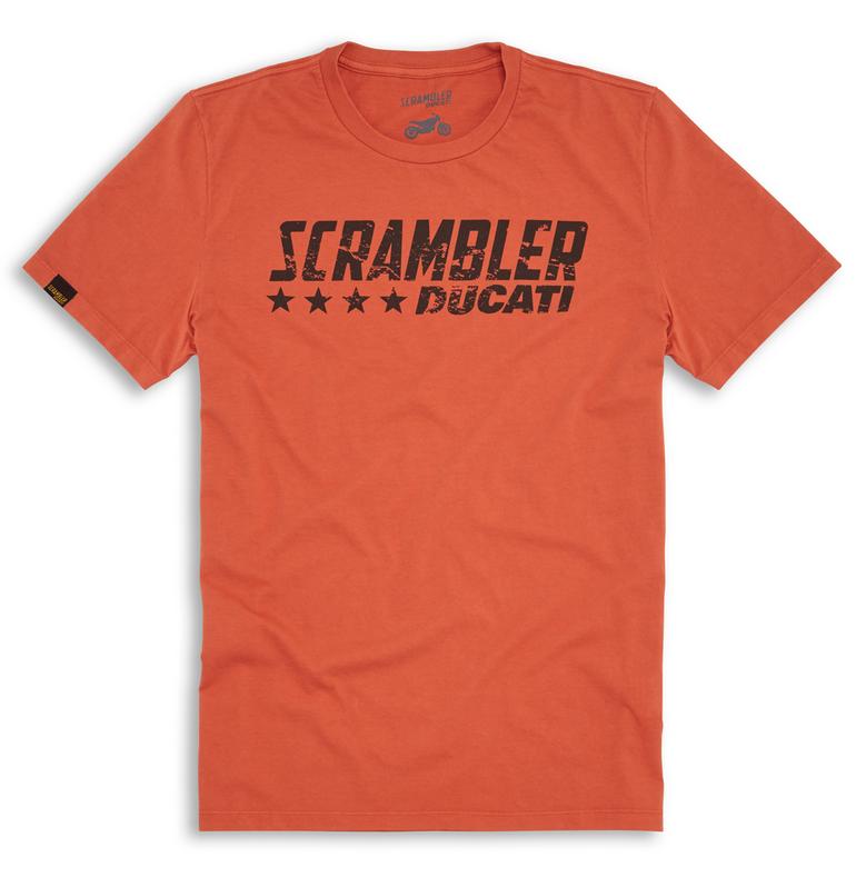 ducati scrambler orange flip herren t shirt ebay. Black Bedroom Furniture Sets. Home Design Ideas