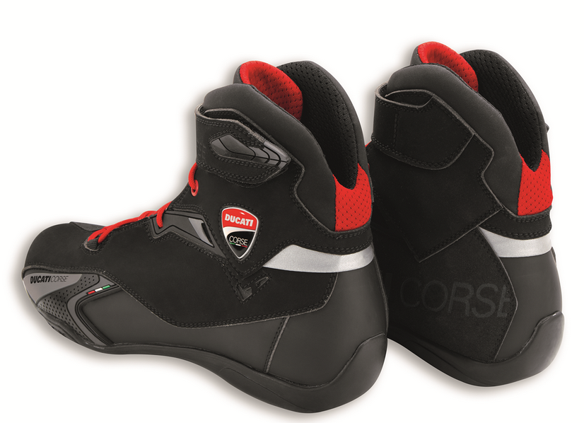 Ducati TCX corse city short motorcycle leather boots black