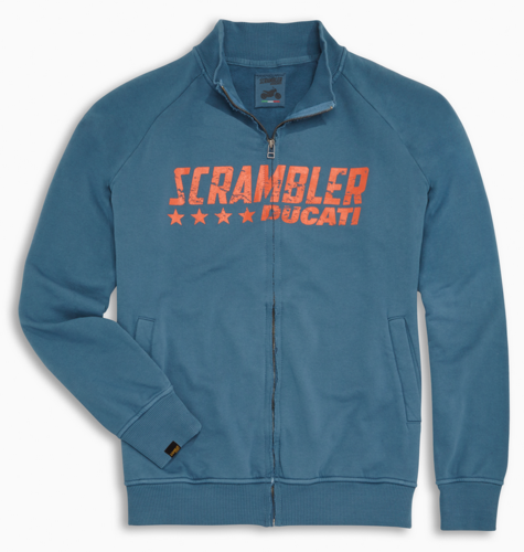 Ducati Scrambler blue Star sweatshirt full zipper