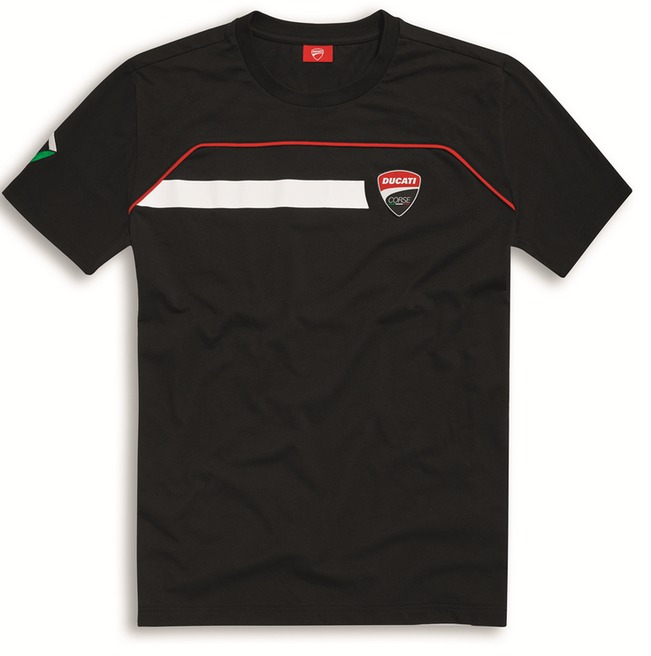 ducati corse speed 17 schwarzes t shirt kurzarm herren. Black Bedroom Furniture Sets. Home Design Ideas