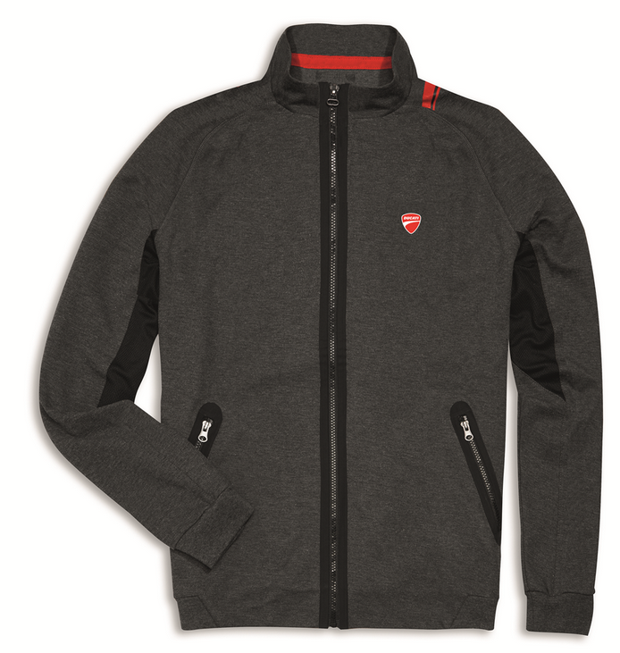 ducati d attitude men 39 s sweatshirt jacket in grey ebay. Black Bedroom Furniture Sets. Home Design Ideas