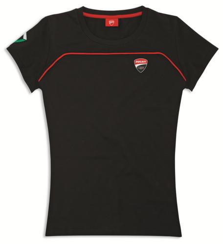 55a7011e1c21 Ducati Cortse Speed 17 women cotton t- shirt in black- new