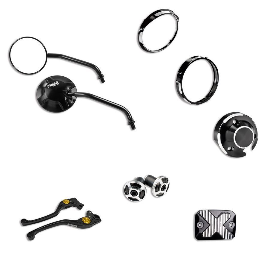 Ducati Scrambler Bullitt Kit Aluminium Cover Mirror Brake And Clutch Lever