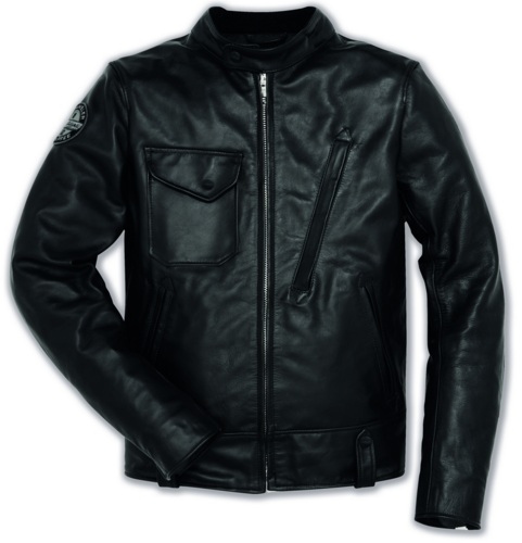 Ducati Dainese Scrambler cafe racer men leather jacket
