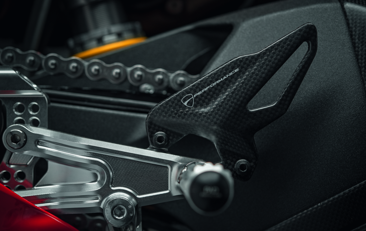 Ducati Panigale V4 Carbon Heel Guard New