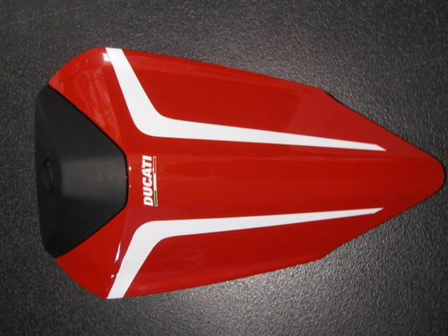 Ducati Superbike 899 1199 R passenger seat cover red white