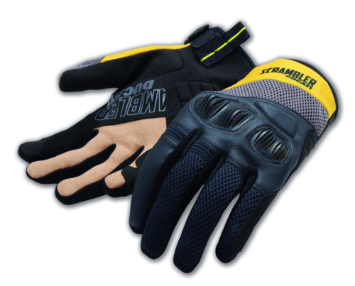 Ducati Spidi Overland 2 Scrambler fabric gloves yellow