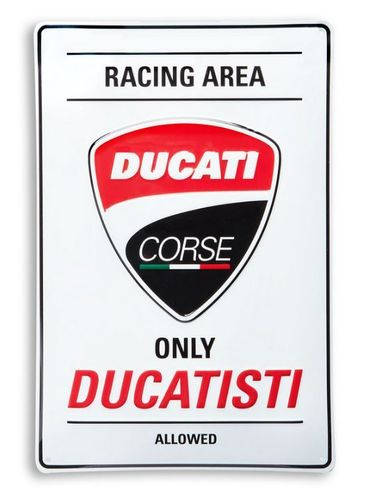 "Ducati Corse ""Racing Area"" Metallschild"